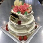 特注3段ケーキ(◍˃̶ᗜ˂̶◍)